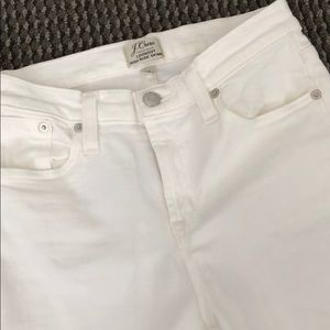 Jcrew white high rise skinny jeans! Size 25